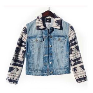 ➡️ final SALE!⬅️ BDG denim tribal print jacket
